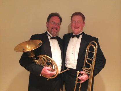 With my father after performing with the Syracuse Festival Orchestra (2015)