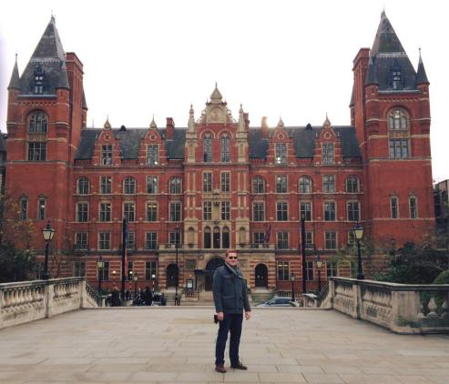 Standing in front of the Royal College of Music in London (2015)