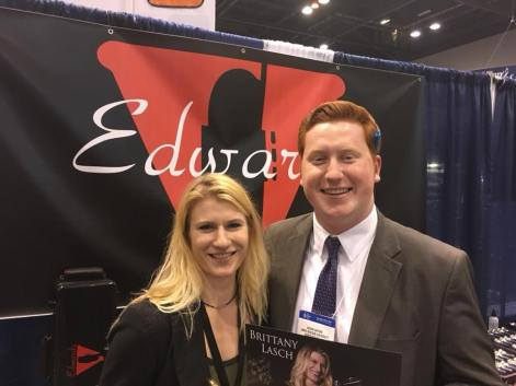 With Dr. Brittany Lasch, Assistant Professor of Trombone at Bowling Green University, at the Midwest Clinic (2017)