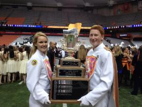 With my sister Jillian holding the Governor's Cup after the West Genesee Marching Band wins its 33rd State Championship (2012)