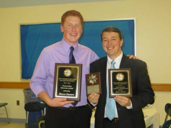 With my high school choral director Anthony Alvaro at the West Genesee Music Awards Baquent (2013)