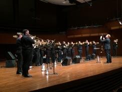"""Conducting the JMU Trombone Choir at """"Tromblowin'"""" (2018)"""