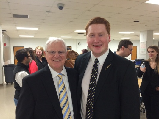 With Steve Massey, former Director of Music at Foxborough High School, in Foxboro, MA (2017)