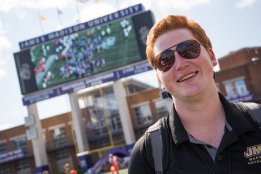 Cheesing at the ETSU vs JMU game (2017) PC: Matt Cosner