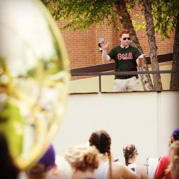 Conducting the JMU Marching Royal Dukes (2018)
