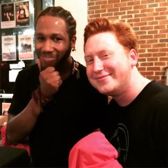 With Chief Apostle Cory Henry after his gig in Charlottesville, VA (2018)