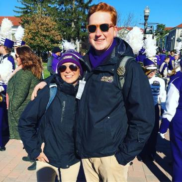 With Amy Birdsong, Assistant Director of Bands at JMU (2018)