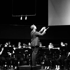 Conducting the JMU Symphonic Band on the world premiere of my wind band piece WIGILIA (2019)