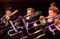 With the JMU Wind Symphony Trombone section of Nick Warmuth and Brian Juntilla (2019)